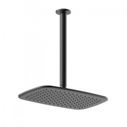 Axiss Rain Head Ceiling Mounted Black (300mm)