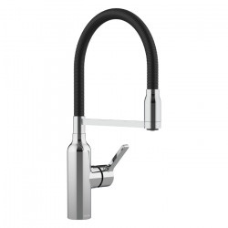 Bex All Pressure Pull Down Sink Mixer Chrome / Matte Black