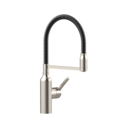 Bex All Pressure Pull Down Sink Mixer Brushed Nickel / Matte Black