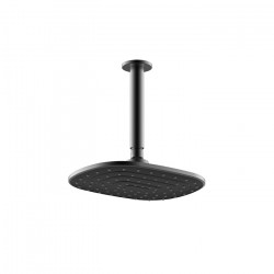 Que Rain Head Ceiling Mounted Black (180mm)