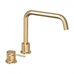 Tate Deck Mounted Sink Mixer Brushed Gold