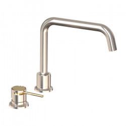 Tate Deck Mounted Sink Mixer Brushed Nickel/Brushed Gold