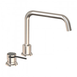 Tate Deck Mounted Sink Mixer Brushed Nickel/Matte Black