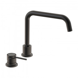 Tate Deck Mounted Sink Mixer Matte Black