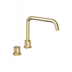 Tate Digital Deck Mounted Sink Mixer Brushed Gold