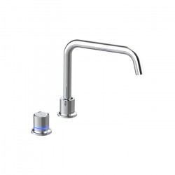 Tate Digital Deck Mounted Sink Mixer Chrome