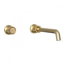 Tate Digital Wall Mounted Basin/Bath Mixer Brushed Gold