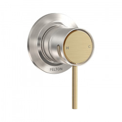 Tate Shower Mixer Brushed Nickel/Brushed Gold