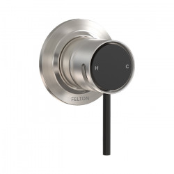 Tate Shower Mixer Brushed Nickel/Matte Black