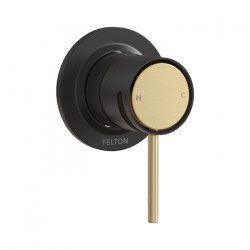 Tate Shower Mixer Matte Black/Brushed Gold