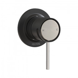 Tate Shower Mixer Matte Black/Brushed Nickel
