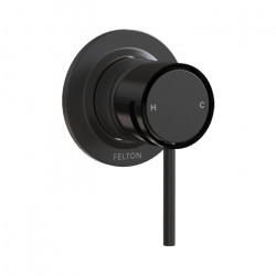 Tate Shower Mixer Matte Black/Gloss Black