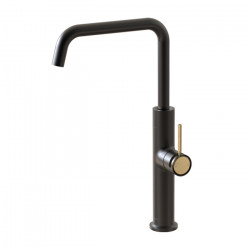 Tate Sink Mixer Matte Black/Brushed Gold